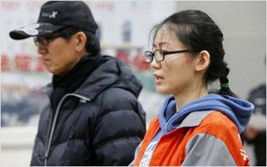 """北京""""牧马人""""女司机杨雪鸥与其父在法庭受审"""